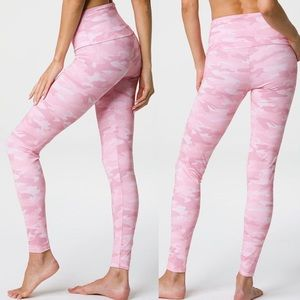 Onzie Yoga High Rise Pink Camo Leggings XS